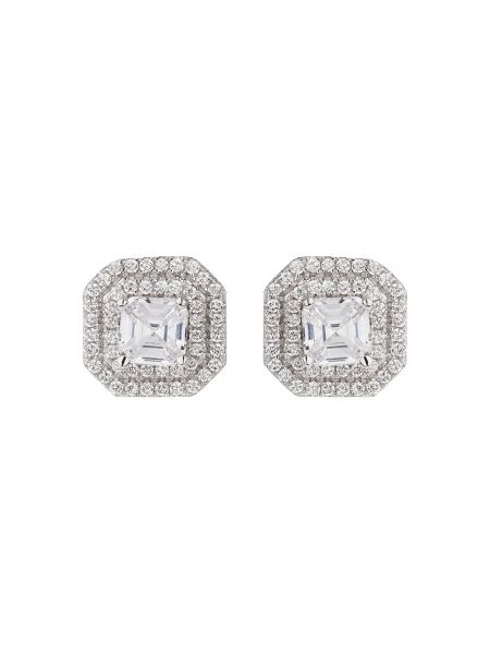 Mikey Sterling Silver 925 Square Stud Earring