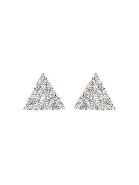 Mikey Sterling Silver 925 TriangleStud Earring