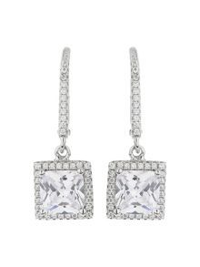 Mikey Sterling Silver 925 Square Drop Earring