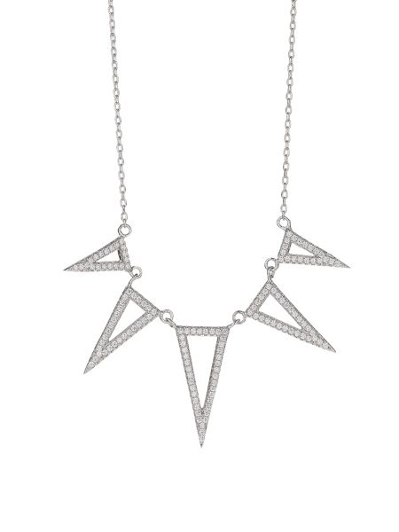 Mikey Sterling Silver925 Triangle Drop Pendant