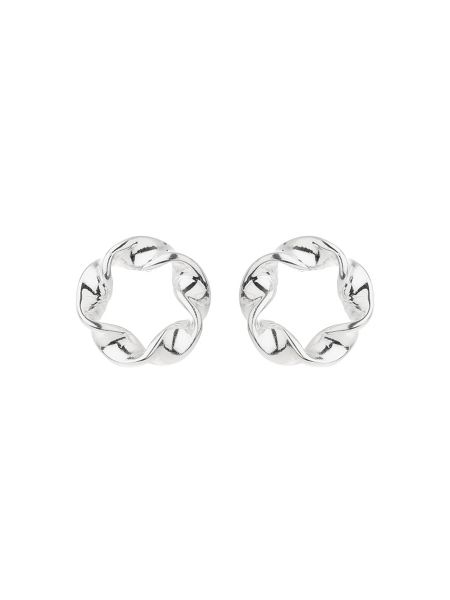 Mikey Sterling Silver925 Twist Stud Earring