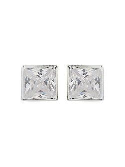 Sterling Silver925 Square Stud Earring