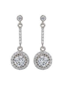 Mikey Sterling Silver 925 Drop Circle Earring