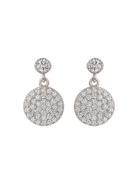 Mikey Sterling Silver 925 Drop Disc Earring