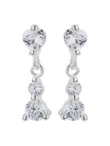 Mikey Sterling Silver 925 Crystal Stud Earring