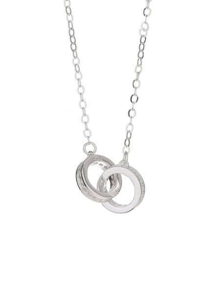 Mikey Sterling Silver925 Twin Ring Pendant
