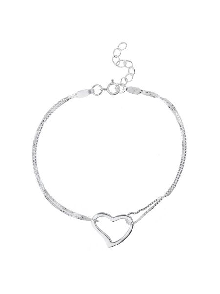 Mikey Sterling Silver925 Heart Twin Tennis