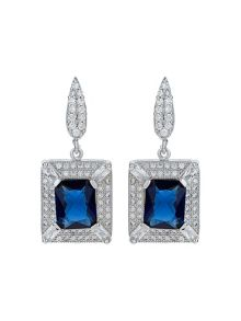 Mikey Cubic Square Centre Drop Earring