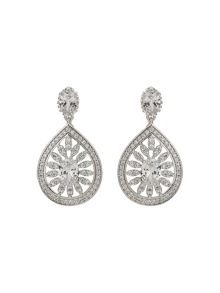 Mikey Filigree Cubic Drop Centre Earring