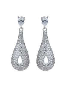 Mikey Filigree Eclipse Cubic Drop Earring