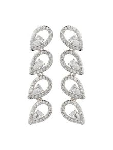Mikey Eclipse Cubic Link Drop Earring