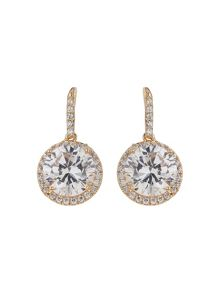 Mikey Oval Cubic Stone Earring Necklace Set