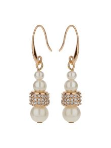 Mikey Multi Crystal Tunnel Ring Pearl Earring