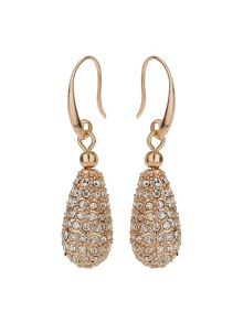 Mikey Oval Crystal Bead Drop Earring