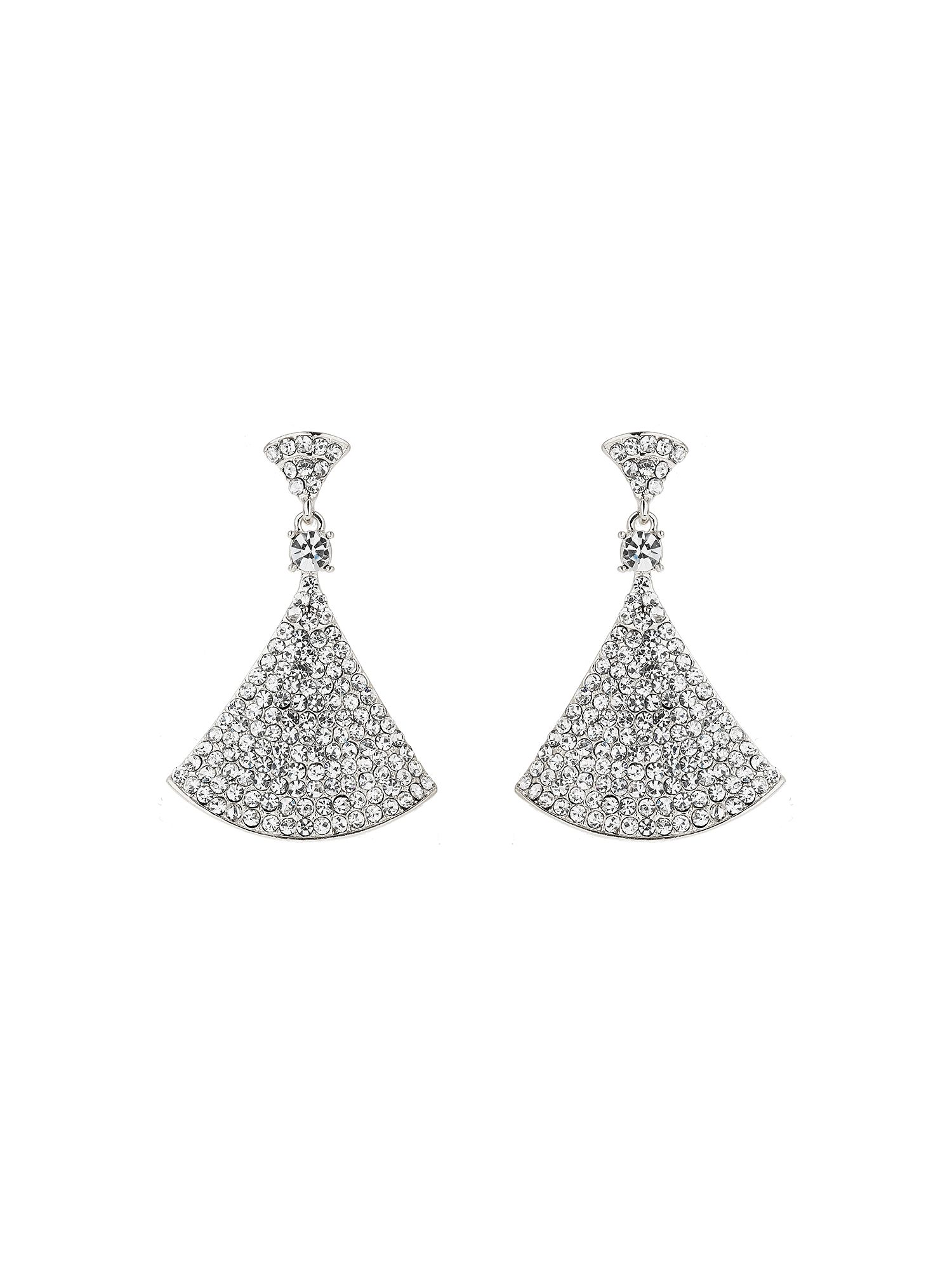 Mikey Bell Design Cubic Embed Drop Earring, White