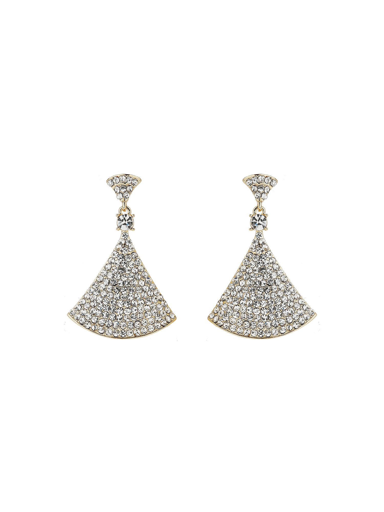 Mikey Bell Design Cubic Embed Drop Earring, Gold
