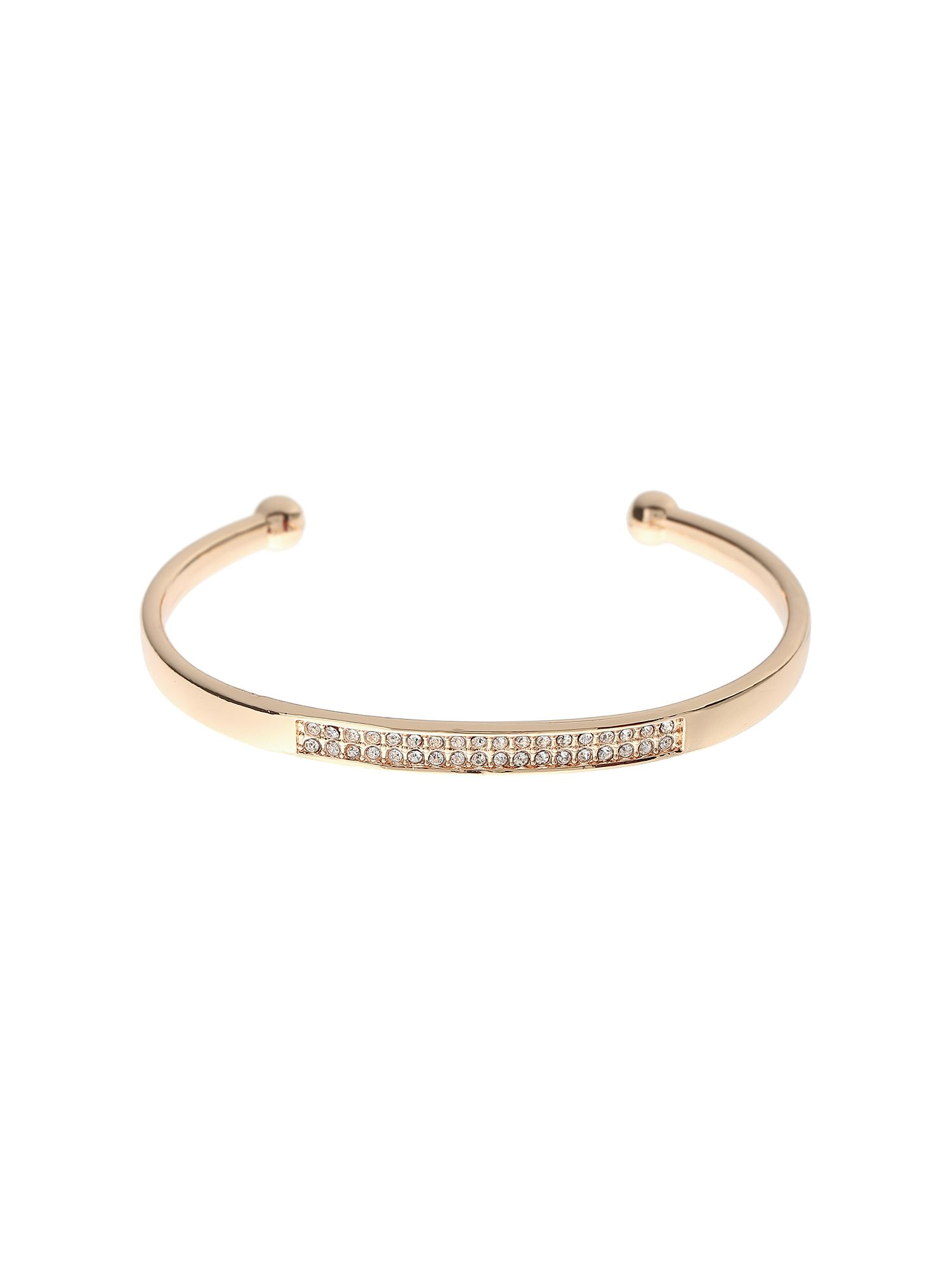 Click to view product details and reviews for Mikey Crystal Embed Open Cuffs Rose Gold.