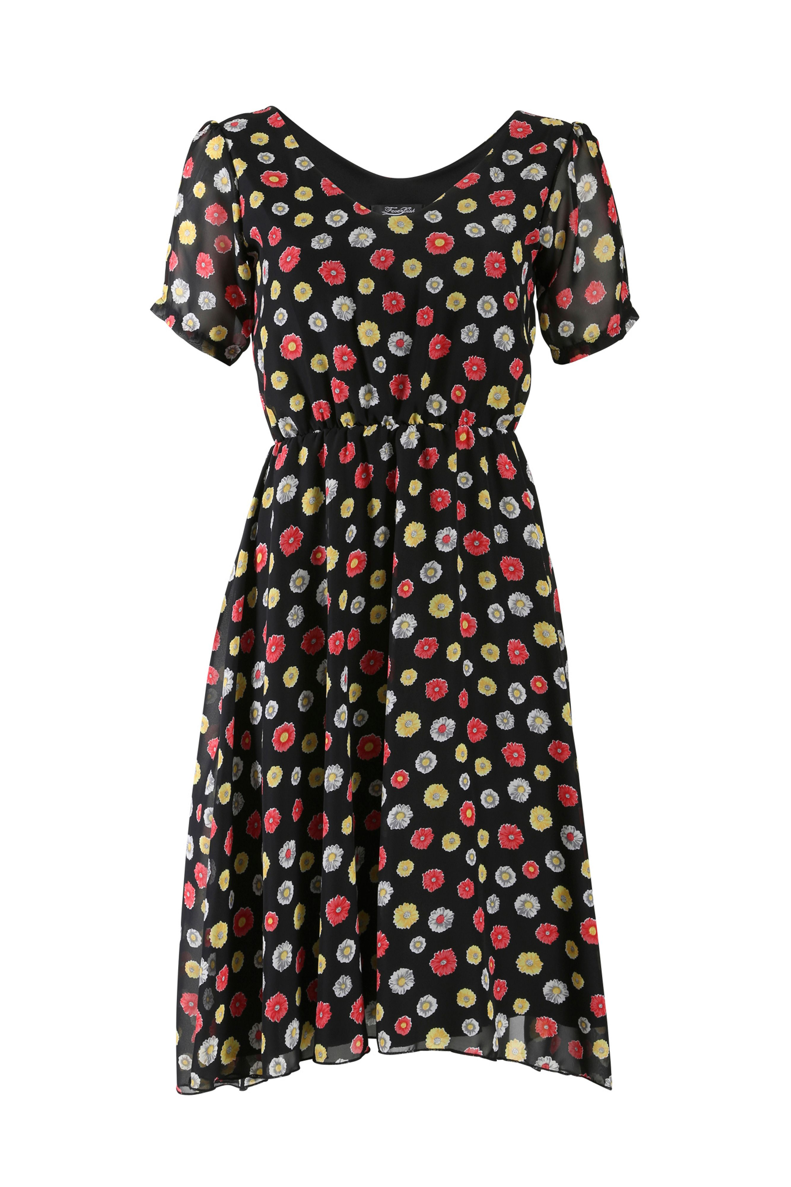 Chiffon daisy tea dress
