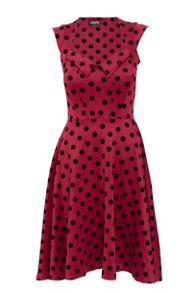 Feverfish Flock Polka Dot Dress