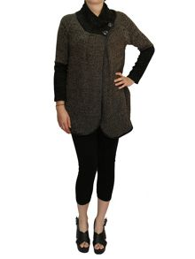 Feverfish Asymmetric Two Button Cardigan