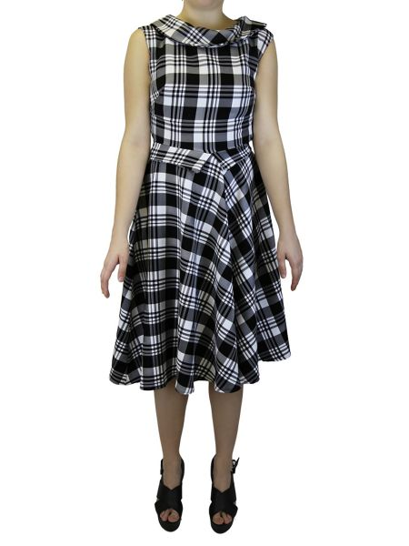 Feverfish Check Flared Dress