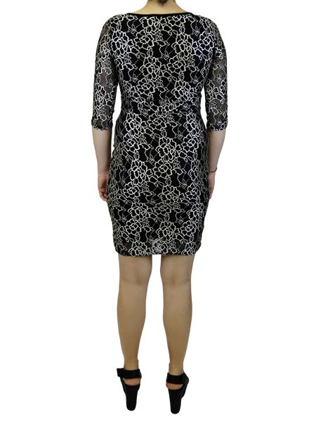 Feverfish Lace Two Tone Dress