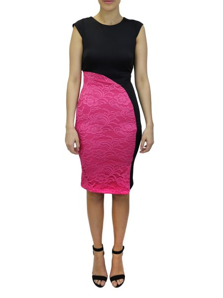 Feverfish Semi Circle Lace Dress