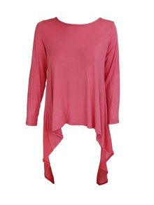Feverfish Chiffon Jersey Low Back Tunic