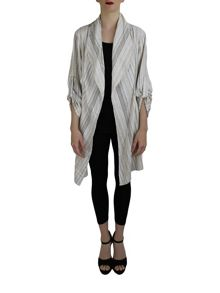 Feverfish Striped Asymmetric Jacket