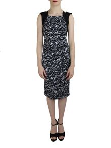 Feverfish Flower Print Pleat Dress