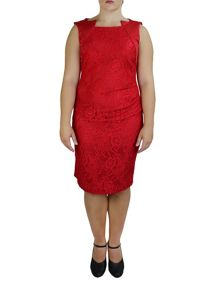 Feverfish Lace Pleat Dress