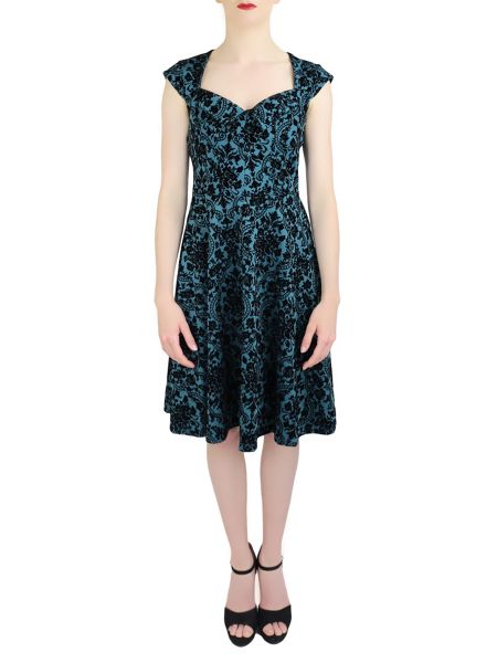 Feverfish Vintage Flock Print Dress