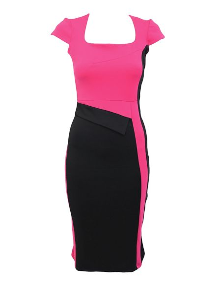 Feverfish Colour Block Bodycon Dress