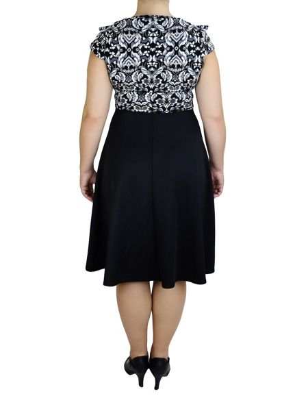 Feverfish Baroque Skater Dress