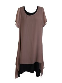 Feverfish Chiffon Double Layer Tunic