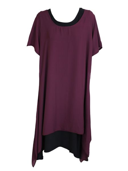 Feverfish Crepe Double Layer Tunic