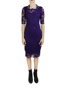 Feverfish Lace Scallop Dress