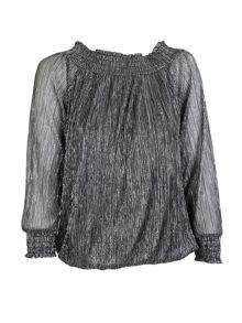 Feverfish Glitter Chiffon Top
