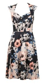 Feverfish Flared Printed Dress