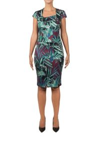 Feverfish Asymmetric Print Dress