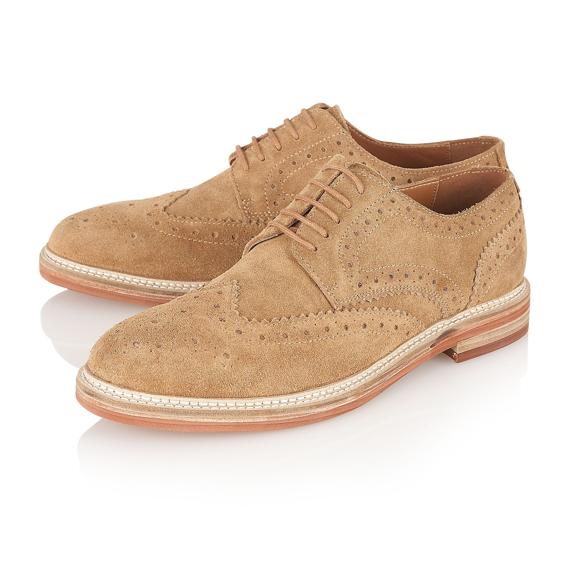 Fry round-toe brogue shoes