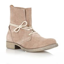 Annie suede round toe lace up boots