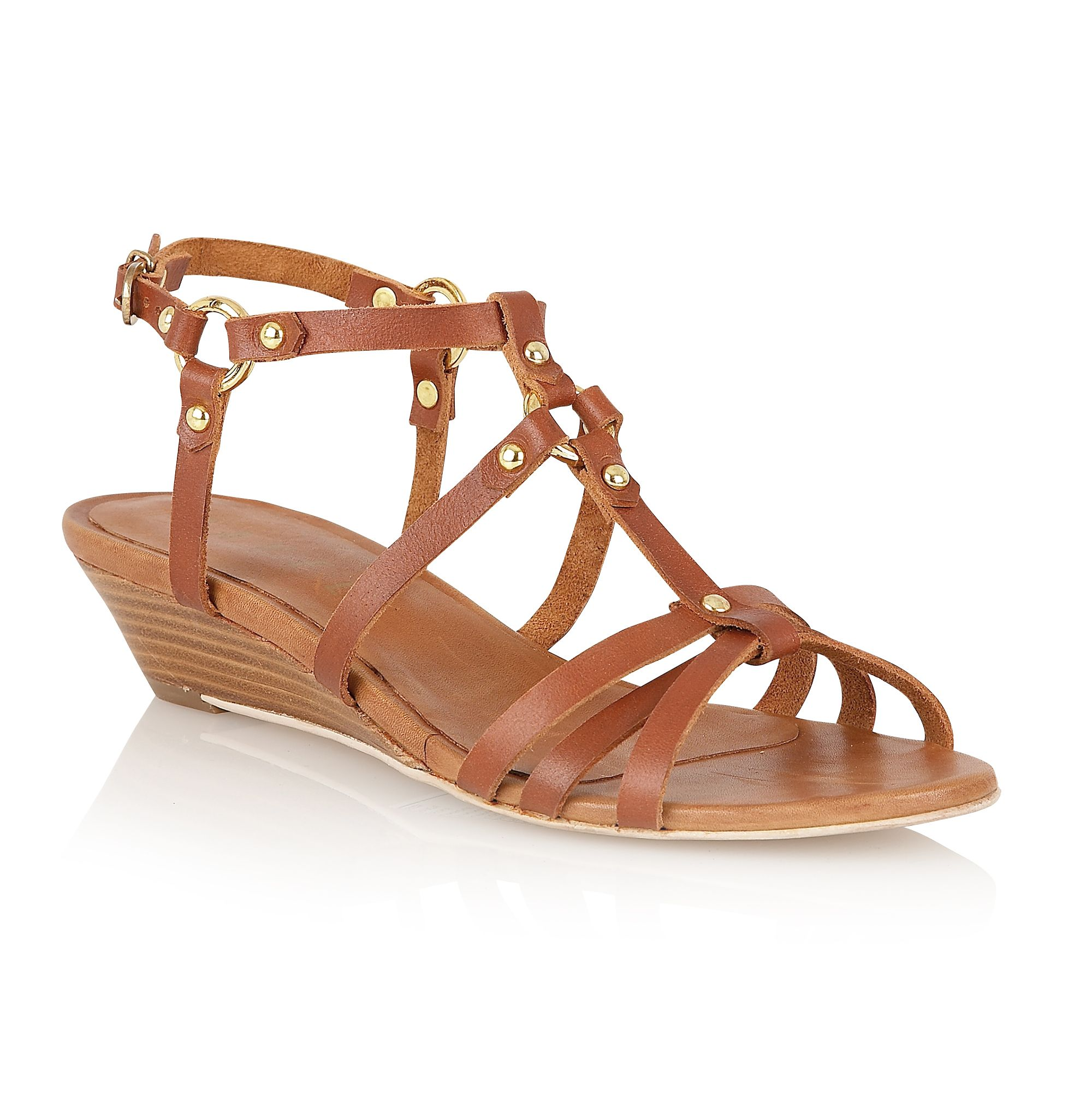 Dahlia leather open toe buckle sandals