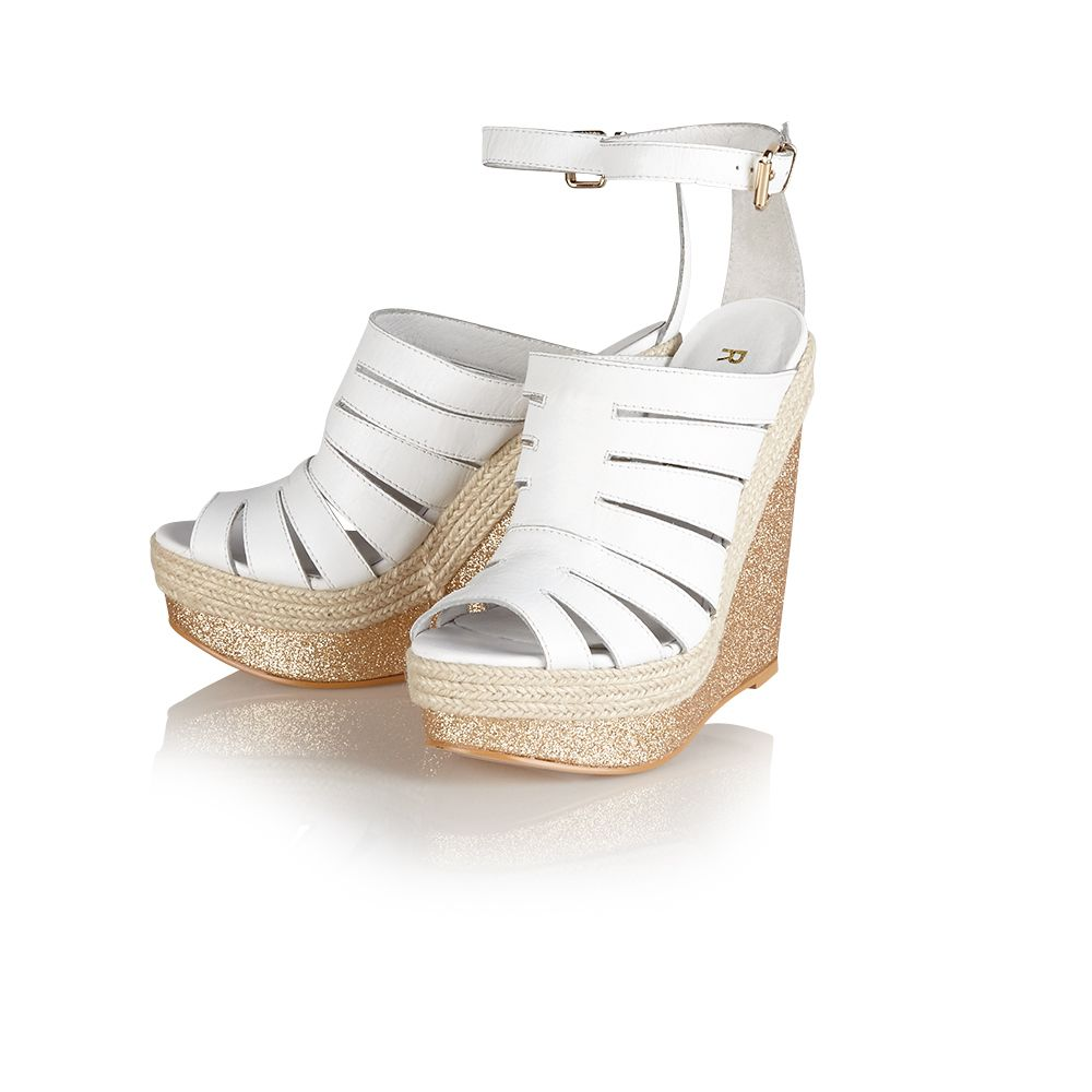 Lily leather peep toe buckle sandals