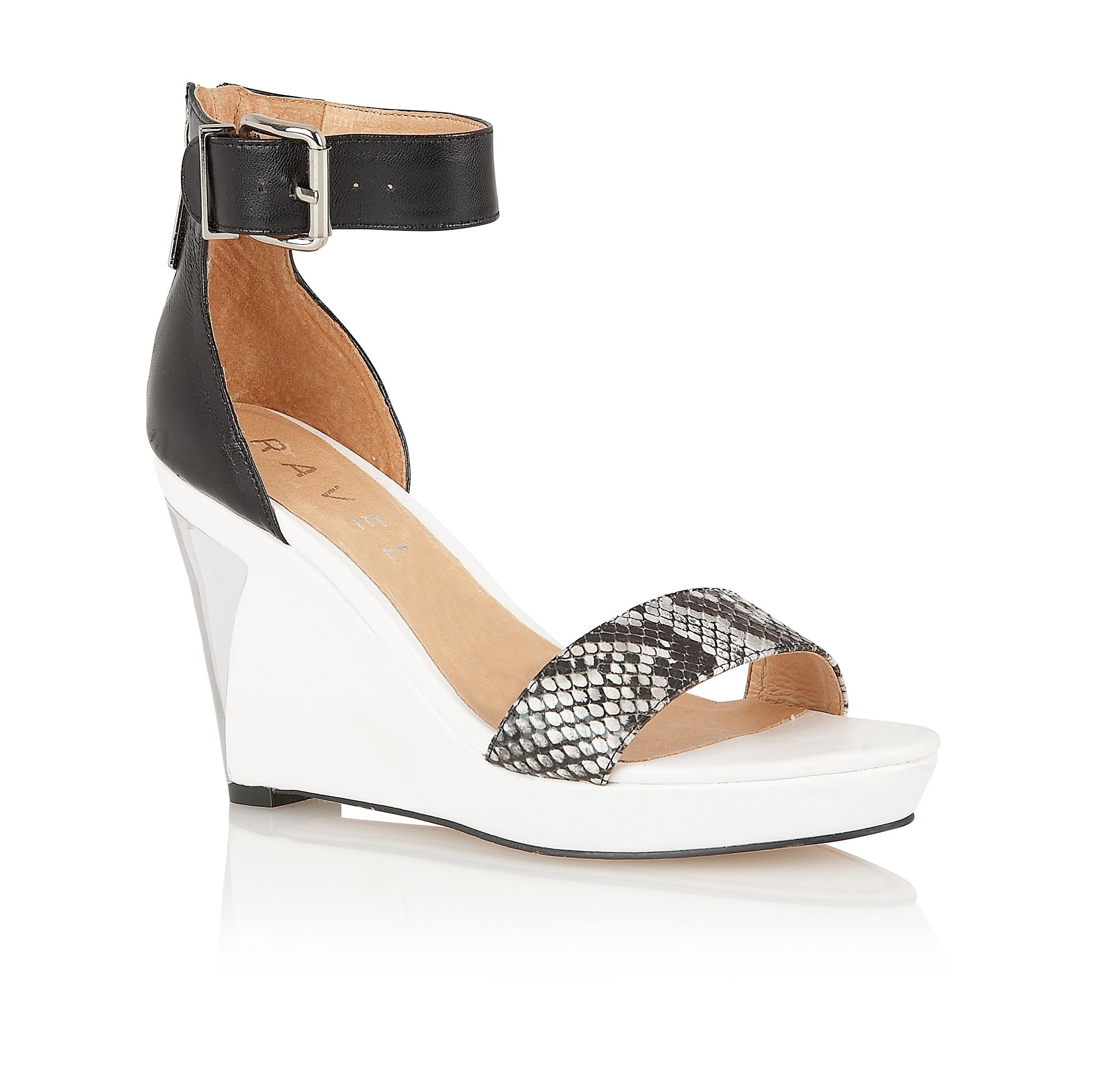 Amaryllis leather open toe buckle sandals