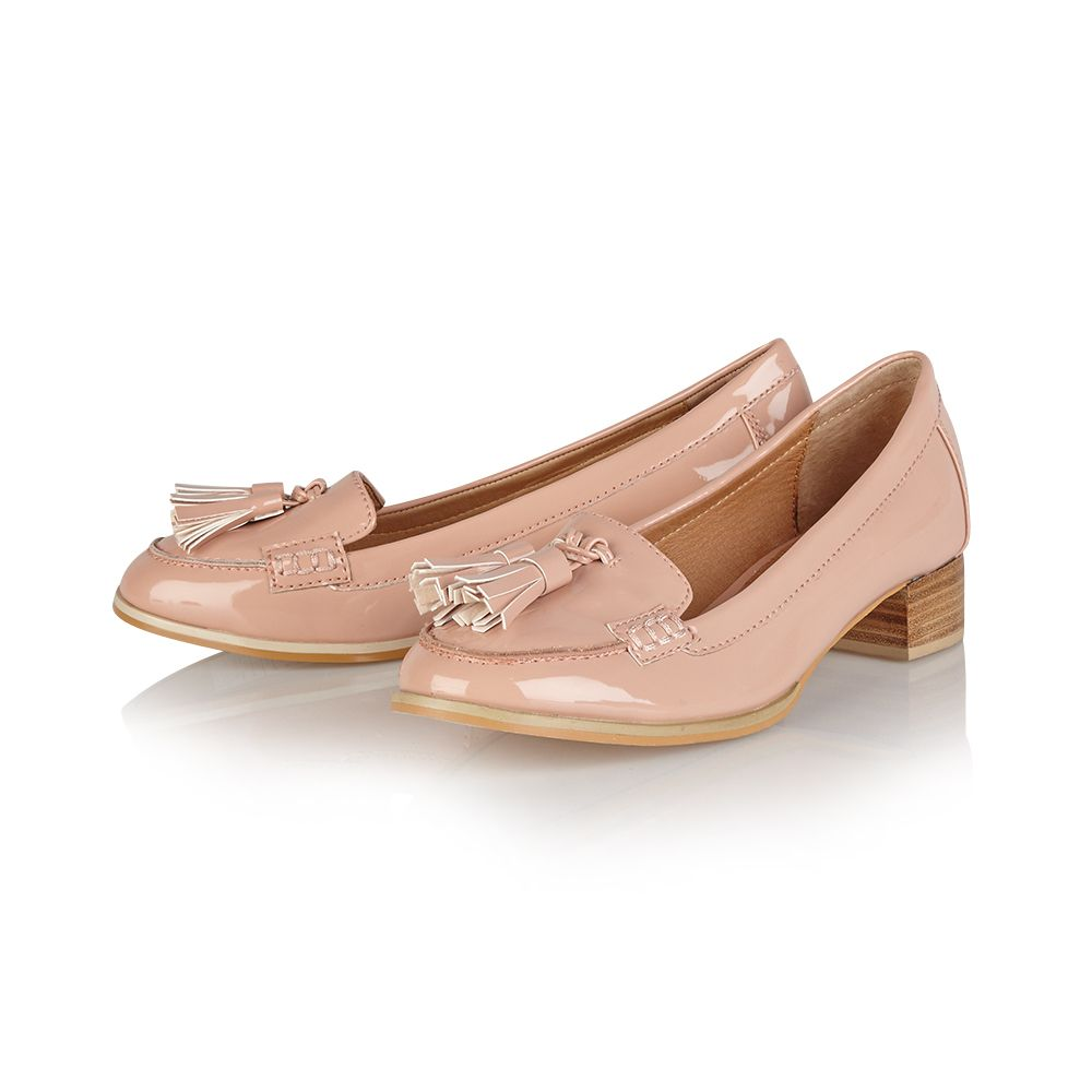 Magnolia almond toe slip on loafer shoes