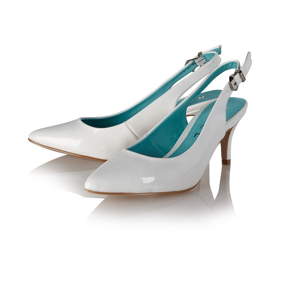 Hyacinth pointed toe buckle court shoes