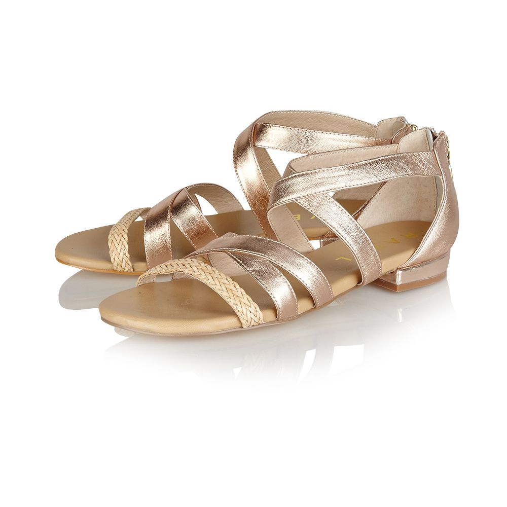 Balm open toe zip sandals