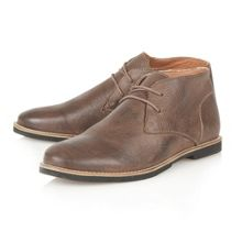 Totton II contrast stitch desert boots