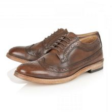 Bude wooden sole lace-up brogues